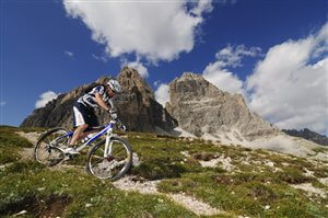 Mountain biking Dolomites